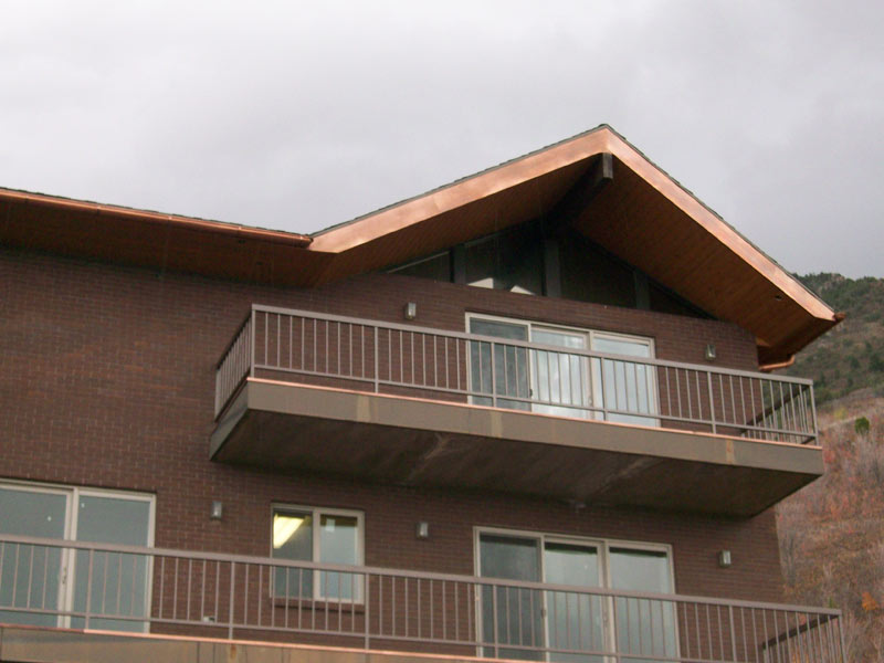 Copper Soffit Facsia Gutter Trim 1